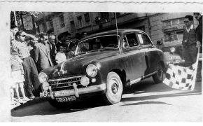 Salida Rallye San Cristóbal. Parque de San Lázaro 10-7-1956