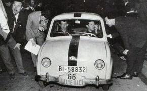 En el RACE con su copiloto Gumersindo González