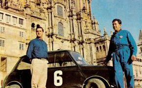 Vencedores en el Rallye Camino de Santiago 1965. Lalao y Márquez