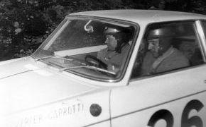 Rallye de Montecarlo. Lalao y Oscar Caprotti. 1962