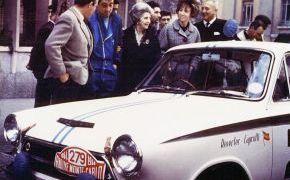 Rallye de Monte-Carlo. 1964. Primera foto en color que se conserva de un coche de Lalao