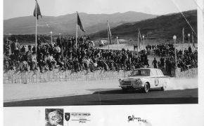 Rallye das Camelias.1964. Sintra, prueba de aceleración y frenada.