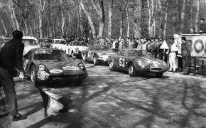 Rallye RACE. 1965. En el Circuito de la Casa de Campo junto a Juán Fernández,