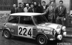 Rallye de Montecarlo. Presentación del coche en Ourense. Lalao y su copiloto