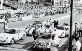 Rallye Vasco-Navarro. 1969. Abandono por bloqueo de la caja de cambios cuando mantenía una cerrada lucha con Juán Fernández por la segunda posición. Lalao nunca tendría suerte en este Rallye. En la foto lo vemos con Bernard Tramont, vencedor.