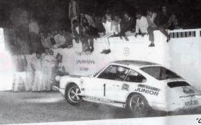 VII Rallye Rias Bajas. Agosto de 1969. Prueba cronometrada en el Monte do Castro.