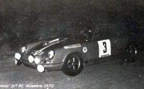 Rallye de España 1970. Prueba puntuable con gran coeficiente para el Campeonato de Europa. Contaba con la presencia de Jean Pierre Nicolás y Darniche con Alpine oficial y los Lancia de Munari y Pinto. También estaban los mejores del Campeonato Nacional