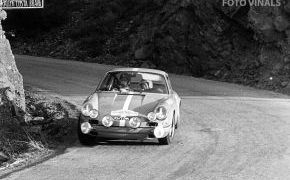 Rallye Costa Brava 1971. Lalao consiguió la tercera posición al finalizar el Rallye por detrás de Lencina con Porsche 911 S, primero y Juncosa con el Abarth 2000 OT