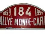 Placa Rallye de Montecarlo 1959