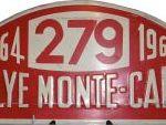 Placa Rallye de Montecarlo 1964