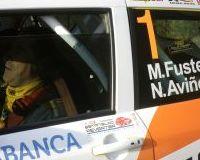 Los pilotos del Rallyes de Ourense - Ourense Termal 2015 con la Fundación Estanislao Reverter.