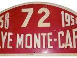 Placa Montecarlo 1958