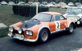 Rallye de Asturias de 1975. Fue la última carrera en la que Lalao se sentó en el Alpinche