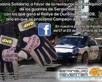 181/10000 Poxa Solidaria, a favor da restauración do  Alpinche, das luvas de  Sergio  Vallejo cos que gañou o  Rallye de Ourense de 2009, ano en que se proclamou Campión de España.