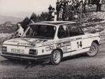Pio Alonso, BMW 2002 tii grupo 1 de Reverter Competición, Subida a la Estación Invernal de Cabeza de Manzaneda 1977. Primer turismo clasificado.